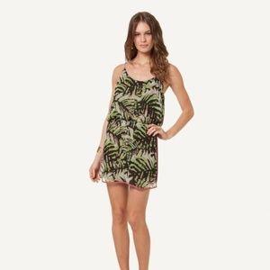 Vix by Paula Hermanny Tropical Dress 100% Silk  L